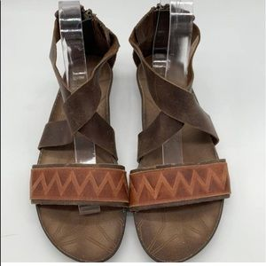 Cushe leather almost NEW weathered leather sandals